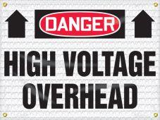 - OSHA Danger High Wind Safety Sign: High Voltage Overhead
