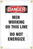 - OSHA Danger Utility Pole Wrap: Men Working On This Line - Do Not Energize