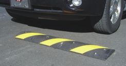- Lot Marking: Striped Rubber Speed Bump