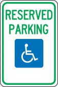 - Federal Parking Sign: Reserved Parking (Handicapped)
