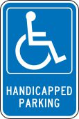 - Federal Parking Sign: Handicapped Parking (With Symbol)