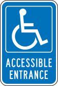 - Federal Parking Sign: Handicap Accessible Entrance