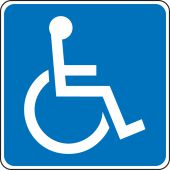 - Traffic Sign: (International Symbol of Access)