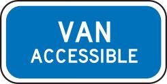 - Supplemental Sign: Van Accessible (R7-8b)