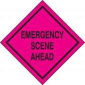 - Emergency Incident Management Roll-Up Traffic Sign System: Emergency Scene Ahead