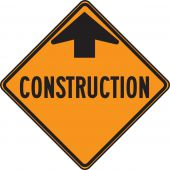 - CANADIAN CONTRUCTION SIGN - CONSTRUCTION AHEAD