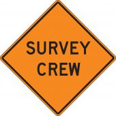 - Roll-Up Construction Sign: Survey Crew