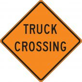 - Roll-Up Construction Sign: Truck Crossing