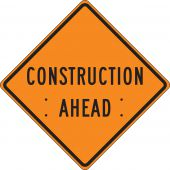 - Roll-Up Construction Sign: Construction Ahead