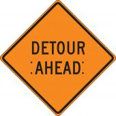 - Roll-Up Construction Sign: Detour Ahead