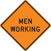 - Roll-Up Construction Sign: Men Working