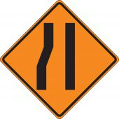 - Roll-Up Construction Sign: Merge Right Lane (Symbol)
