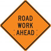 - Roll-Up Construction Sign: Road Work Ahead