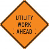 - Roll-Up Construction Sign: Utility Work Ahead