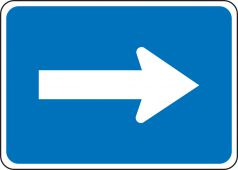- General Service Sign: Auxiliary Horizontal Directional Arrow