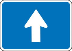 - General Service Sign: Auxiliary Vertical Directional Arrow