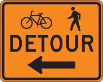 - Rigid Construction Sign: Detour (Pedestrian/Bicycle)