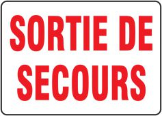 - BILINGUAL FRENCH SIGN – FIRE EXIT