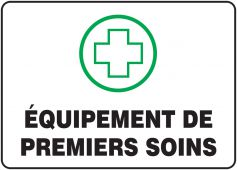 - BILINGUAL FRENCH SIGN – FIRST AID