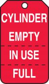 - Cylinder Status Safety Tag: Cylinder Empty, In Use, Full