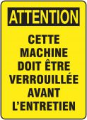 - BILINGUAL FRENCH SIGN – EQUIPMENT