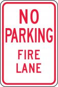 - Traffic Sign: No Parking Fire Lane