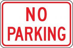 - Parking Sign: No Parking (Landscape)