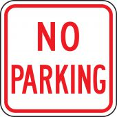 - NO PARKING SIGNS