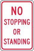 - Traffic Sign: No Stopping Or Standing