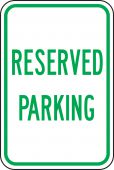 - Traffic Sign: Reserved Parking