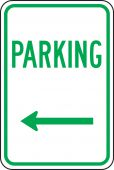 - DESIGNATED PARKING SIGNS