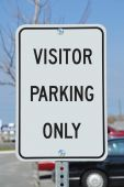 - Traffic Sign: Visitor Parking Only