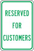 - Traffic Sign: Reserved for Customers