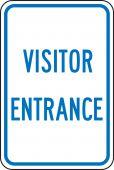 - Traffic Sign: Visitor Entrance