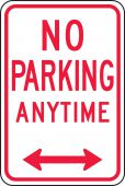 - Traffic Sign: No Parking Anytime (Double Arrow)