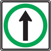 - TRAFFIC SIGN - STRAIGHT