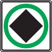 - TRAFFIC SIGN - DANGER GOODS ALLOWED