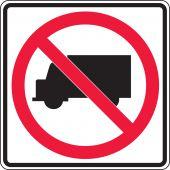 - Truck Restriction Sign: No Trucks (Symbol)
