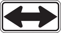 - Direction Sign: Double-Headed Arrow