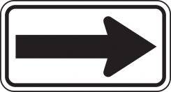 - Direction Sign: One-Direction Large Arrow (White)