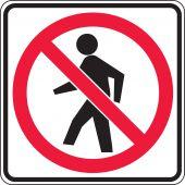 - Bicycle & Pedestrian Sign: No Pedestrian Crossing (Symbol)