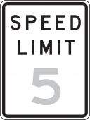 - Traffic Sign: Speed Limit __