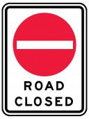 - TRAFFIC SIGN - ROAD CLOSED
