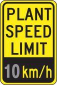 - Speed Limit Sign: Plant Speed Limit _ km/h