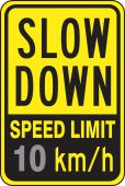 - Speed Limit Sign: Slow Down Speed Limit _ Km/h