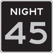 - Semi-Custom Speed Limit Sign: Night _