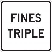 - Speed Limit Sign: Fines Triple