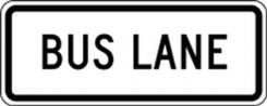 - Lane Guidance Sign: Bus Lane