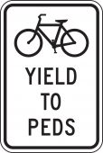 - Bicycle & Pedestrian Sign: Yield To Peds
