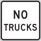- Truck Restriction Sign: No Trucks